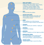 Body reaction to stress graphic