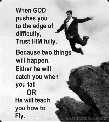 When God pushes your off the edge